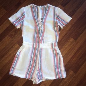 Tularose white red blue Romper - made in India